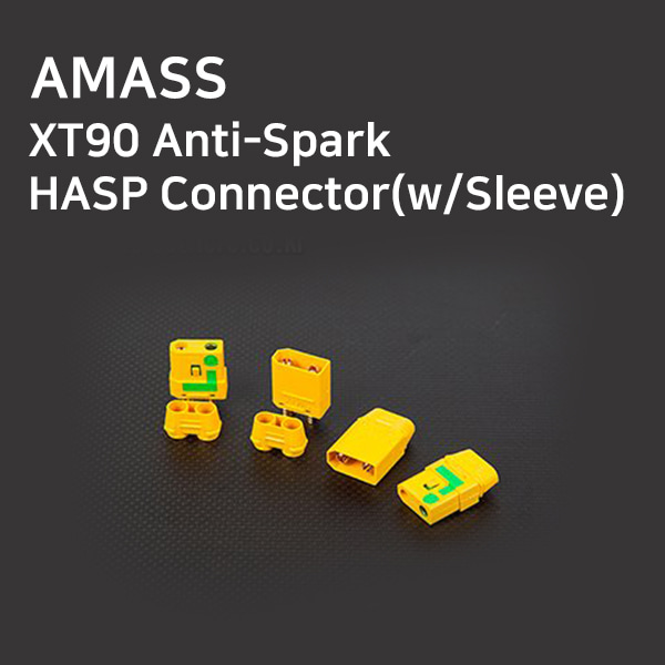 [AMASS] XT90 Anti-Spark/HASP Connector(w/Sleeve)
