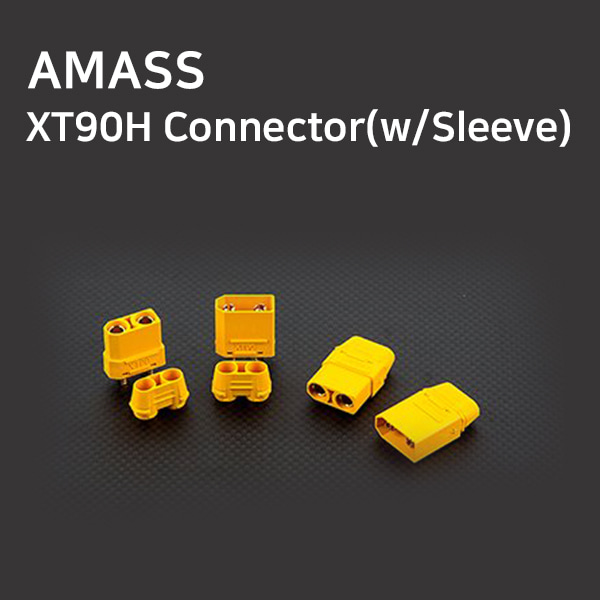 [AMASS] XT90H Connector(w/Sleeve)